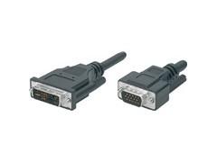 Audio/Video Kabel ( 2.0m) DVI-Stecker (24+5) <-> VGA-Stecker