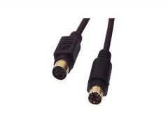 Audio/Video Kabel (10.0m) Hosiden-Stecker (S-Video) <-> Hosiden-Kupplung (S-Video) (-> Verlängerungskabel)