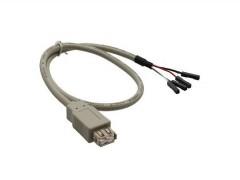 USB Adapter Buchse A<->Mainboard (Pfostenanschluß), 0.4m