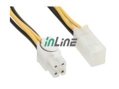 Kabeladapter Netzteil/CPU/Lüfter<br /> Netzteil-Stecker (4pol) - Netzteil-Kupplung (4pol), 20cm