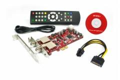 DVBSky PCIe DVB-S2 Sat FTA Twin (S952 V3) + CD