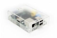 Raspberry Pi Model B Gehäuse (Multicomp), Farbe: transparent, (Achtung: nicht für Pi 3, Pi 2 oder B+ geeignet!)