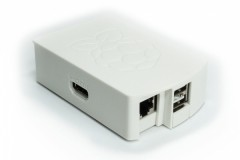 Raspberry Pi Model B Gehäuse (19 Design), Farbe: weiss/white, (Achtung: nicht für Pi 3, Pi 2 oder B+ geeignet!)