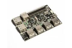 Raspberry Pi Addon<br /> UUGear 7 Port USB card