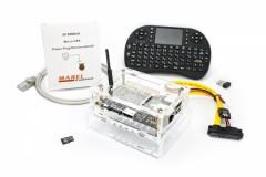 Banana Pro (Multimedia Kit) - Banana Pro, 16GB micro SDHC Karte (programmiert), 3000mA Netzteil, Kombi Gehäuse, SATA Kabel, Kühlkörper, Netzwerkkabel, Multimedia Keyboard