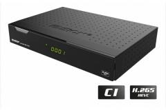 Edision piccollo S2+T2C<br /> HD Hybrid Twin Receiver mit 1x DVB-S2 und 1x DVB-C/T2 Tuner mit Kartenleser, CI Slot, Ethernet, HEVC/H265