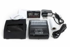 Bluetooth Bon Thermodrucker V2 (80mm Breite) mit Akku geeignet für Papierrolle: ø42 x 80mm inkl. Gürteltragetasche
