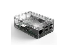 Gehäuse für Raspberry Pi 3 Model B+, Pi 3, Pi 2 und B+ (19 Design), Farbe: transparent/clear