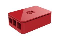 Gehäuse für Raspberry Pi 3 Model B+, Pi 3, Pi 2 und B+ (19 Design), Farbe: rot/red (1)