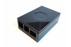 DIGITALRISE Gehäuse für Raspberry Pi 4, Farbe: schwarz/black